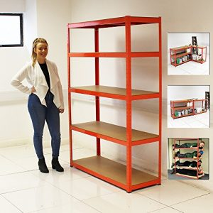 ELEPHANT-120CM-EXTRA-WIDE-HEAVY-DUTY-5-TIER-SHELF-SHELVING-UNITS-GARAGE-STORAGE-RACKING-SHED-OFFICE-0