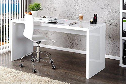 Enzo White High Gloss Computer Pc Home Executive Study