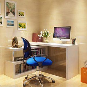Furnitureboxuk-Siena-White-High-Gloss-Computer-PC-Home-Executive-Study-Office-Corner-Desk-0