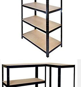Garden-Mile-Heavy-Duty-5-Tier-Garage-Racking-Boltless-Industrial-Racking-Shelving-Greenhouse-Staging-150cm-x-70cm-x-30cm-Industrial-Strength-MDF-boards-180Kgs-Per-shelfPerfect-Home-Storage-Solution-15-0