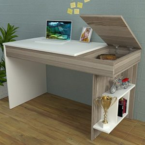 HIDDEN-Bureau-White-Avola-Computer-Workstation-Home-Office-Desk-Writing-Table-with-shelf-unit-in-modern-Design--0