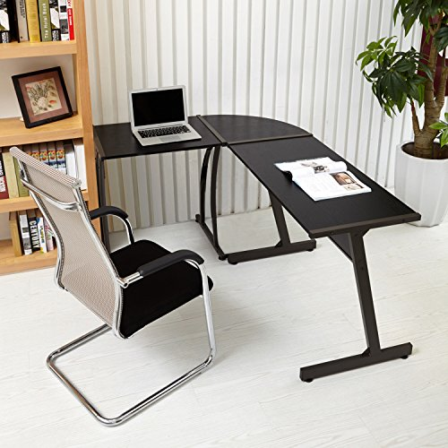 Office Corner Desk Coavas L Shaped Office Wood Desk Large