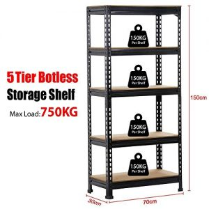 Popamazing-Black-15m-5-Tiers-Metal-Boltless-Industrial-Racking-Garage-Storage-Shelves-Shelving-Units-0