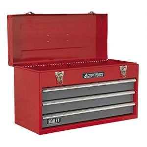 Sealey-AP9243BB-Tool-Chest-3-Drawer-Portable-with-Ball-Bearing-Slides-RedGrey-0