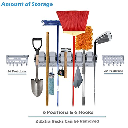 Utility Wall Mounted Mop Broom Holders Tool Rack For Home