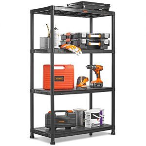 VonHaus-4-Tier-Plastic-Unit-Extra-Wide-Shelving-for-Garage-and-Shed-Freestanding-Storage-System-125Kg-Capacity-25Kg-Per-Shelf-Ideal-Office-Garden-Studio-Workshop-174-x-80-x-40cm-0