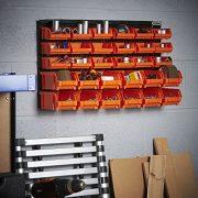 VonHaus-Wall-Mount-Storage-Organiser-Bin-Panel-Rack-0-1