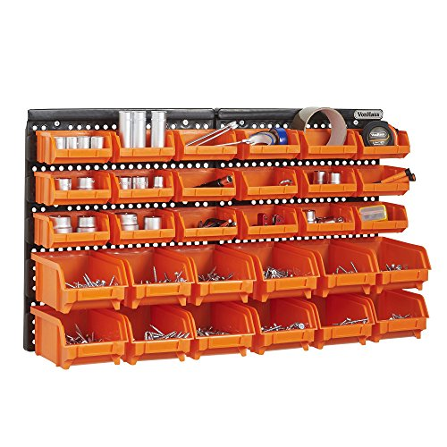 Vonhaus Wall Mount Storage Organiser Bin Panel Rack