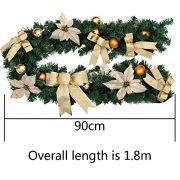 6Ft18M-Decorated-Garland-Christmas-Decoration-Xmas-Festive-Wreath-Garland-With-Berries-And-Pinecones-Gold-0-1