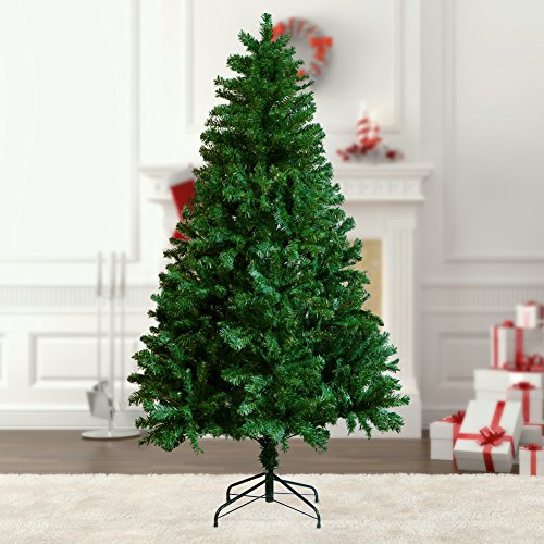 Artificial Christmas Trees Amazon Uk: 6ft-Artificial-Xmas-Christmas-Tree-2-Pack-40-LED-Warm