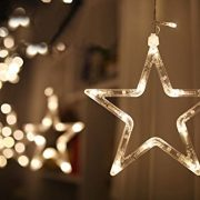 DESHIR-Star-Curtain-Lights-12-Stars-138-LEDs-Curtain-String-Lights-Stars-Christmas-Lights-Perfect-Decoration-for-Wedding-Christmas-Holiday-Parties-and-Home-Warm-White-UK-Plug-0-0