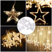 DESHIR-Star-Curtain-Lights-12-Stars-138-LEDs-Curtain-String-Lights-Stars-Christmas-Lights-Perfect-Decoration-for-Wedding-Christmas-Holiday-Parties-and-Home-Warm-White-UK-Plug-0-6