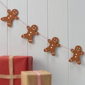 Ginger-Ray-Wooden-Gingerbread-Man-Christmas-Party-Bunting-Decoration-Vintage-Noel-0
