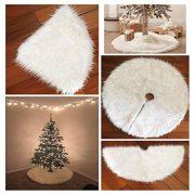HENGSONG-White-Christmas-Tree-Plush-Skirt-Base-Cover-Decoration-Xmas-Decorations-78CM-0-0