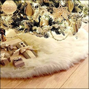 HENGSONG-White-Christmas-Tree-Plush-Skirt-Base-Cover-Decoration-Xmas-Decorations-78CM-0