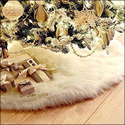 HENGSONG-White-Christmas-Tree-Plush-Skirt-Base-Cover-Decoration-Xmas-Decorations-78CM-0