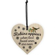 Red-Ocean-Robins-Appear-When-Lost-Loved-Ones-Are-Near-Wooden-Hanging-Heart-Memorial-Christmas-Tree-Decoration-Plaque-0-3