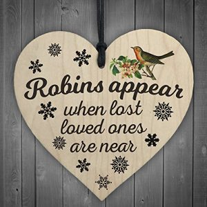 Red-Ocean-Robins-Appear-When-Lost-Loved-Ones-Are-Near-Wooden-Hanging-Heart-Memorial-Christmas-Tree-Decoration-Plaque-0