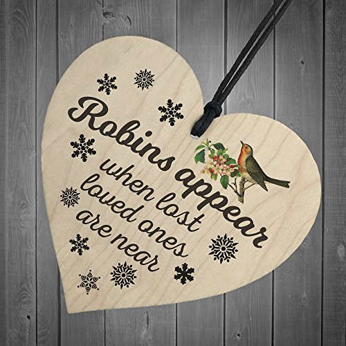 Red-Ocean-Robins-Appear-When-Lost-Loved-Ones-Are-Near-Wooden-Hanging-Heart-Memorial-Christmas ...