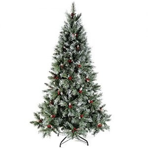 WeRChristmas-Scandinavian-Blue-Spruce-Christmas-Tree-includes-Pine-Cones-and-Berries-with-Easy-Build-Hinged-Branches-0