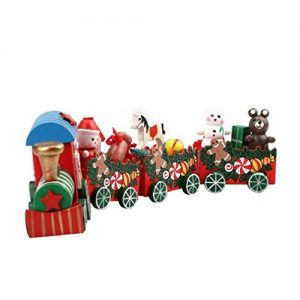 Xmas-TrainTefamore-4-Pieces-Wood-Christmas-Xmas-Train-Decoration-Decor-Gift-0