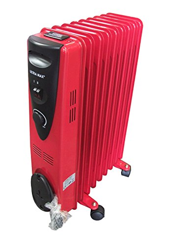 9-Fin-2000w-Electric-OIL-FILLED-RADIATOR-Heater-With-Thermostat-Control-RED-0