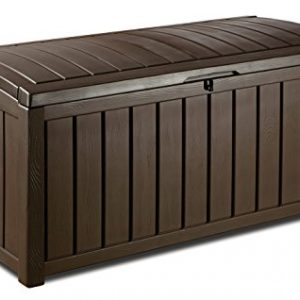 Keter-Glenwood-Outdoor-Plastic-Storage-Box-Garden-Furniture-128-x-65-x-61-cm-Brown-0