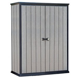 Keter-High-Store-Outdoor-Plastic-Garden-Storage-Shed-1395-x-77-x-1815-cm-Grey-0