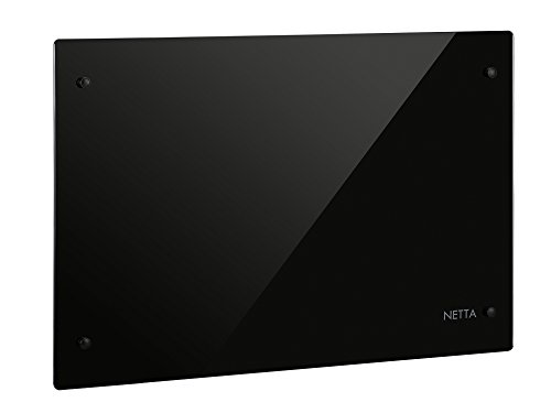 Netta-Slimline-Glass-Panel-Heater-Radiator-with-Thermostat-Black-0