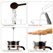 French-Press-Famirosa-French-Press-Coffee-Maker-for-Coffee-Tea-Camping-and-Office-8-Cups-1000ml-34-Oz-4-Filters-0-3