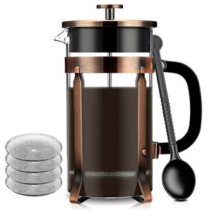 French-Press-Famirosa-French-Press-Coffee-Maker-for-Coffee-Tea-Camping-and-Office-8-Cups-1000ml-34-Oz-4-Filters-0