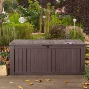 GARDEN-STORAGE-BENCH-BOX-LARGE-570L-KETER-RESIN-FURNITURE-LOCKABLE-WATERPROOF-0