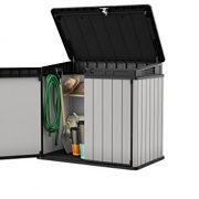 Keter-140-x-82-x-124-cm-Store-It-Out-Premier-XL-Outdoor-Plastic-Garden-Storage-Shed--Grey-and-Black-0-0