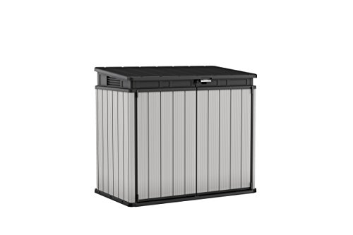 Keter-140-x-82-x-124-cm-Store-It-Out-Premier-XL-Outdoor-Plastic-Garden-Storage-Shed--Grey-and-Black-0