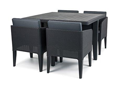 Keter Columbia Outdoor Garden Furniture Dining Cube Set