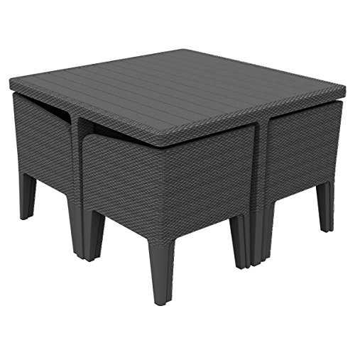 Keter Columbia Outdoor Garden Furniture Dining Cube Set