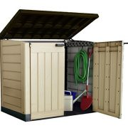 Keter-Store-It-Out-Max-Plastic-Outdoor-Garden-Storage-Shed-Beige-and-Brown-0