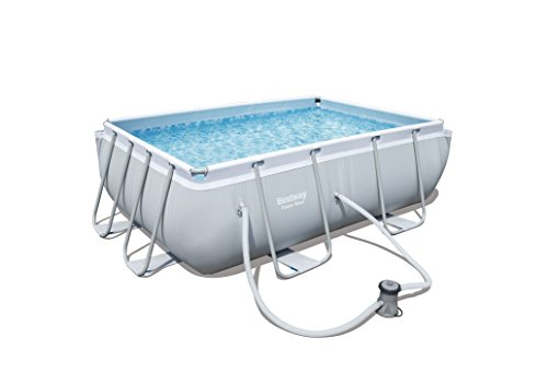 Bestway power steel rectangular swimming pool 3662 litres - How many litres in a swimming pool ...