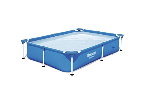 Bestway steel pro frame above ground pool house and - Bestway steel frame swimming pool ...