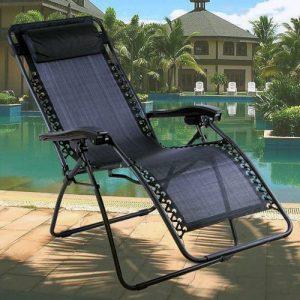 Denny-International-Black-Textoline-Zero-Gravity-Reclining-Garden-Sun-Lounger-Chair-0