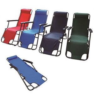 Eurotrade-W-2001706-Adjustable-Metal-Folding-Chair-Recliner-Deck-Camping-Sun-Bed-Lounger-Garden-Pool-Patio-Seat-Furniture-Multi-Colour-90-x-60-x-25-cm-0