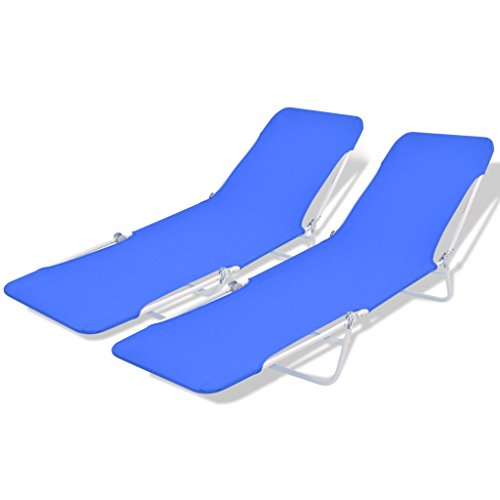 Festnight Folding Sun Loungers Beach Chair Garden Patio