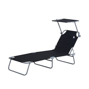 Outsunny-Reclining-Chair-Folding-Lounger-Seat-with-Sun-Shade-Awning-Beach-Garden-Outdoor-Patio-Recliner-Adjustable-0