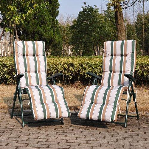 Outsunny Set Of 2 Garden Patio Outdoor Sun Recliners