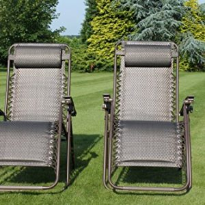 SET-OF-2-Padded-Garden-Sun-Lounger-Relaxer-Recliner-Chairs-in-Tweed-Weatherproof-Textoline-0