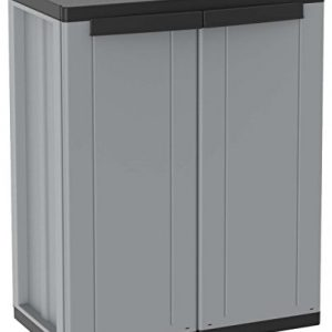 Terry-1002821-jline68-Cabinet-2-Doors-with-1-Adjustable-Shelf-Grey-0