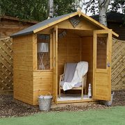 7-x-5-Shiplap-Bournemouth-Apex-Wooden-Summerhouse-Double-Doors-Felt-Included-By-Waltons-0-0