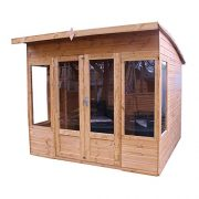 8x8-Shiplap-Wooden-Helios-Garden-Summerhouse-Curved-Roof-Double-Doors-Felt-Included-By-Waltons-0