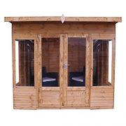 8x8-Shiplap-Wooden-Helios-Garden-Summerhouse-Curved-Roof-Double-Doors-Felt-Included-By-Waltons-0-2