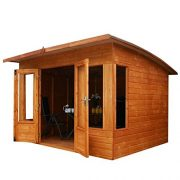 8x8-Shiplap-Wooden-Helios-Garden-Summerhouse-Curved-Roof-Double-Doors-Felt-Included-By-Waltons-0-3